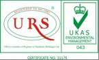 Certified ISO 14001:2004 'Environmental Management System' since August 2008 By URS, UKAS.